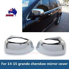 For 2014-2015 Jeep Grand Cherokee ABS Triple Chrome Rear View Side Mirror Cover