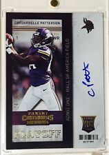 2013 Contenders Playoff Ticket Cordarrelle Patterson Auto RC /99