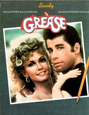 John Travolta,OLIVIA NEWTON-JOHN-cover SANDY sheet music from GREASE '78 5 pp NM