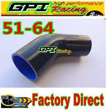 "Silicone 45 Degree Reducer Elbow 2.5""-2"" 64mm-51mm Intercooler Turbo Hose bla*"