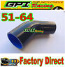 """Silicone 45 Degree Reducer Elbow 2.5""""-2"""" 64mm-51mm Intercooler Turbo Hose blk"""