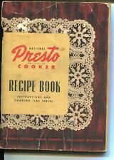 NATIONAL PRESTO COOKER RECIPE BOOK INSTRUCTIONS TIME TABLE PRESSURE COOK 1945