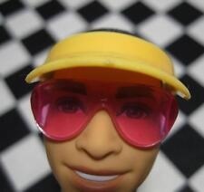 Fashionista Ken Doll Clothes acces-yellow Visor Hat-pink Sunglasses Beach Fun