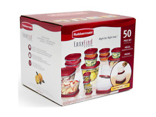 50 Piece Food Storage Set w Easy Find Lids Rubbermaid Containers Snapon Plastic