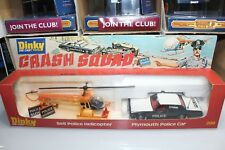 Dinky Toys Vintage 1978 Series CRASH SQUAD SET HELICOPTER PLYMOUTH #299