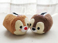 New Authentic Disney Chipmunk Chip and Dale Tsum tsum Plush Toy 2PCS Gift