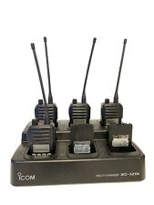 Icom IC-F61V UHF Two Way Radios with BC-121N Charger & BP-227 Batteries