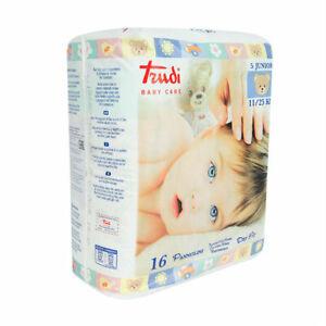 Trudi Baby Care Pannolini Junior 11/25 Kg 6 pacchi x 16    96 Pannolini
