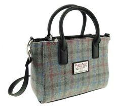 GENUINE HARRIS TWEED Handbag Tote Light Grey Check Brora LB1228 COL69