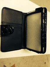 Samsung Galaxy SII i9100 Fitted Wallet Flip Case Crocodile Skin Black Brand New