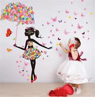 Butterfly Girl Removable Wall Art Sticker Vinyl Decal DIY Home Mural Decor 2016