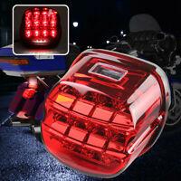 Motorcycle Red Lens Tail Rear LED Light Brake For Harley Dyna Softail Sportster