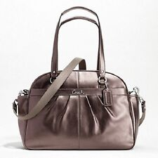 Coach Adison Bronze Leather Baby Diaper Multifunction Business Bag $548 -RARE!