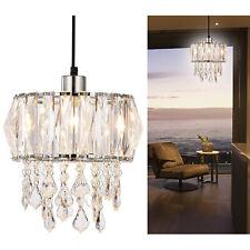 Prismatic Crystal Strips & Droplets Ceiling Chandelier Light Shade Pendant Lamp