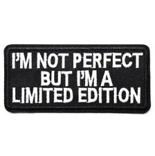 1 Écusson Brodé Thermocollant NEUF ( Patch Embroidered ) - I'm not perfect ...