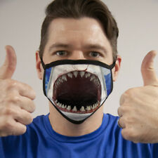 Shark Jaws Face Mask Reusable Washable Unisex Face Cover Cloth Usa Seller
