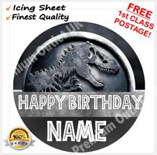 Jurassic Park 7.5'' Pre-Cut Edible Icing Circle Cake Topper
