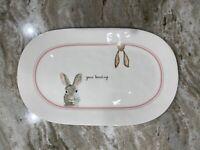 """New Rae Dunn Easter Bunny Platter """"Gone Hunting"""" Farmhouse Decor"""
