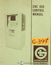 Giddings & Lewis CNC 800 Control, Programing Operations Service Manual