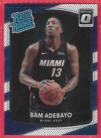2017-18 Donruss Optic Blue White Bam Adebayo Rated Rookie RC #187 Miami