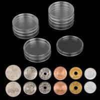 Boîtier rond transparent de 10pc 36mm,plastique rond pour le stockage des pièces