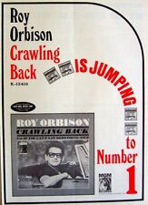 ROY ORBISON 1965 vintage POSTER ADVERT CRAWLING BACK mgm records