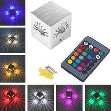 3W LED Wandlampe Flurlampe Innen Effektleuchte RGB Wand Strahler Treppenlampe