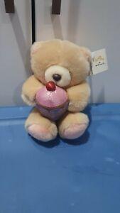 Hallmark Teddy Holding Cupcake New
