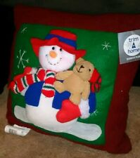 Decorative Christmas 3D Pillow Holiday Decor * (Brand New w/ Tag!) *Trim-A-Home