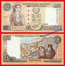 CHIPRE CYPRUS 1 Pound libra 2004 Pick 60d  SC  / UNC