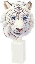 "9.5"" White Tiger Collectible Wild Cat Animal Decoration Figurine Statue Figure"