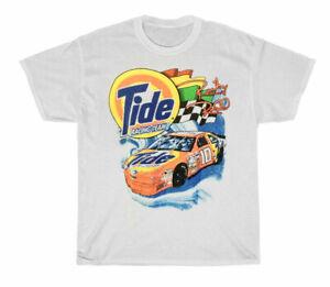 vtg 90s NASCAR Tide RICKY RUDD Racing T-Shirt White Unisex Cotton Reprint  TK126