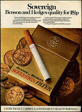 Benson & Hedges Cigarettes 1973 Magazine Advert #17743