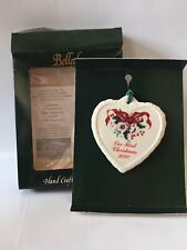 Our First Christmas Together 2000 Christmas Ornament by Belleek Made In Ireland
