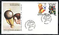 ESPAÑA SOBRE 1º DÍA 1982 MÁLAGA 2644/45  MUNDIAL FUTBOL ESPAÑA 82