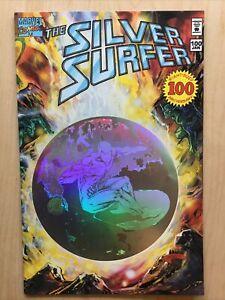 Silver Surfer #100 1995 Hologram Enhanced Cover Giant-Size Anniversary VF/NM B&B
