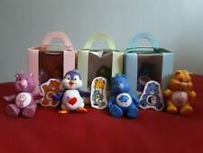 Vintage 1980s Care Bears Poseable Figures Various in Hand Made Box + FREE CHARM