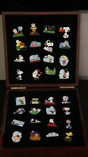 Full set of 32 PEANUTS SNOOPY PINS COLLECTION WILLABEE & WARD in W&W Box