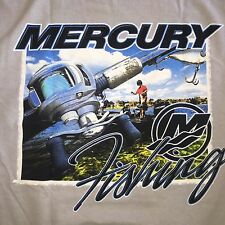 NEW Mercury Marine Gray Team Mercury T-Shirt with Awesome Graphic Logo! Sz LARGE