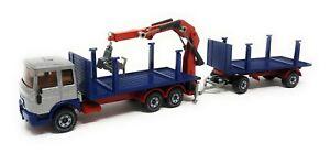 VINTAGE SIKU MAN Truck with loading crane silver blue 1/55 no 3810 germany