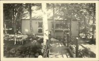 Cottage/Home in Woods - Unidentified SHOREY Real Photo Postcard