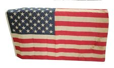 Vintage Stained Old Distressed 50 Star US American Flag Rare