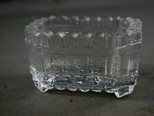 Antique Pressed Glass Salt Cellar Picket Fence Basket Spiderweb Footed Base
