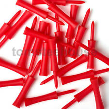 50 RED PLASTIC STEP GOLF TEES LARGE (76 mm) + Free Golf Ball Markers