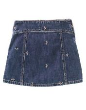 GYMBOREE NWT WINTER PRINCESS SIZE 4 EMBROIDERED BERRY SKIRT DENIM 4 4T