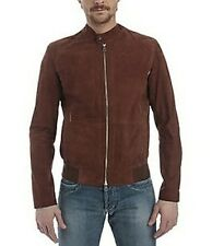 Giubbino Pelle Uomo  Gas Men Jacket Leather Marrone Brown TG XL-XXL