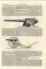 1895 New Design Warships Ordnance 11 Pound Gun Shale Oil Industry