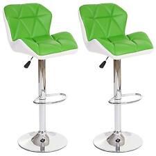 2x tabouret de bar Hamilton, chaise de comptoir, similicuir ~ vert