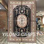 Yilong 4'x6' Classic Handmade Carpet Hereke Hand Knotted Silk Pictorial Rug 064M