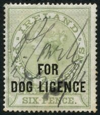 Ireland QV Dog Licence Stamp Used
